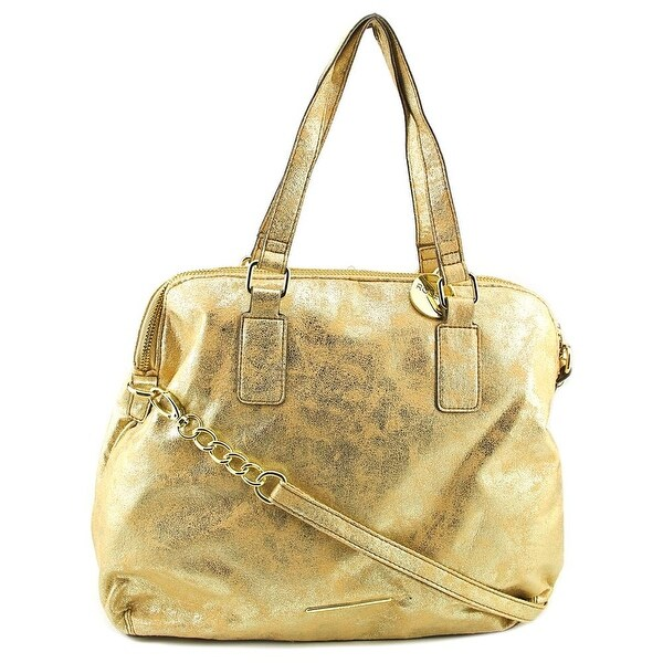 Rosetti Polly Double Handle Crossbody Women Synthetic Satchel - Gold