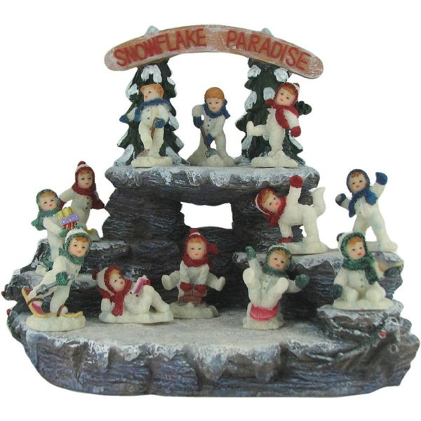 Snowflake Paradise 25 Piece Collectible Winter Figurine Set