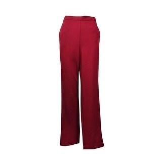 Alfred Dunner Women's Villa d'Este Proportioned Short Pants - Merlot