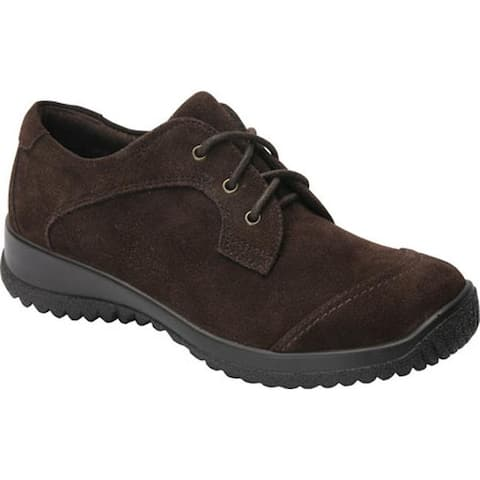 Drew Women's Hope Lace-Up Brown Suede