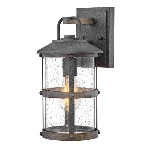 Hennessy One Light Outdoor Lantern Aged Zinc - Exact Size