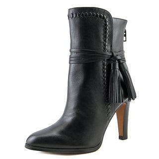 Coach Jessie Ankle Boot Round Toe Leather Ankle Boot