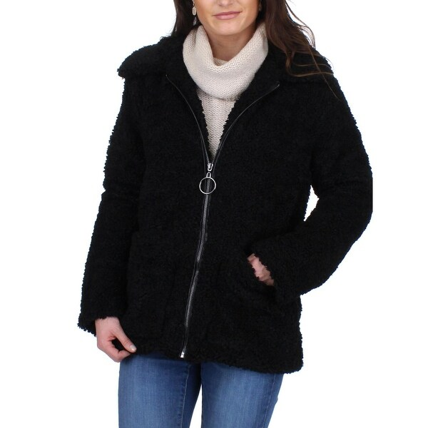 Steve Madden Womens Car Coat Fall Sherpa