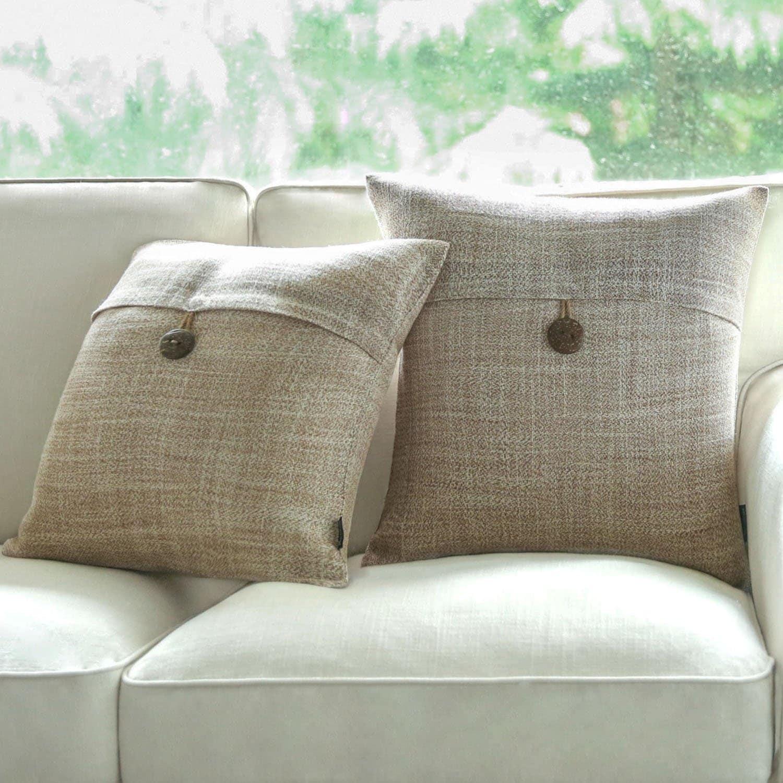 Cotton Solid color Linen Pillow Case Sofa Throw Cushion Cover Home Decor 2018
