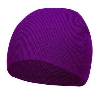 2fca1174472 Short Cuffless Beanies - Purple
