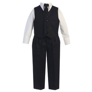 Baby Boys Black Vest Pants Special Occasion Easter Outfit Set 6-24M