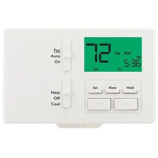 Lux ATX-100E-A04 Digital Programmable Thermostat, White