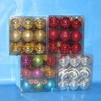 Club Pack of 324 Assorted Multicolored Miniature Glass Ball Christmas Ornaments - multi