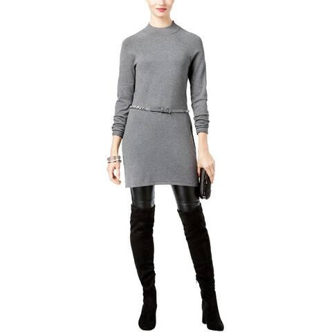 I-N-C Womens Ribbed Tunic Sweater
