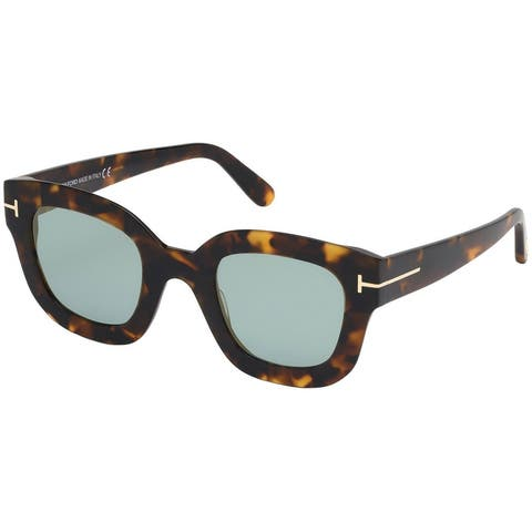 Tom Ford FT0659 55X Havana Cat Eye Pia Sunglasses - 48-26-140