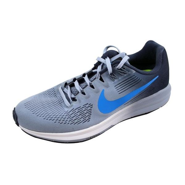 cfe4f13075546 Shop Nike Men s Air Zoom Structure 21 Glacier Grey Photo Blue 904695 ...