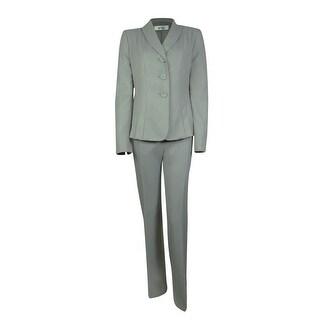 Le Suit Women's Water Lilies Pleated Pant Suit