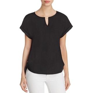 Calvin Klein Womens Blouse Chiffon Asymmetric