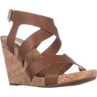 I35 Landor Wedge Sandals, Golden Cognac