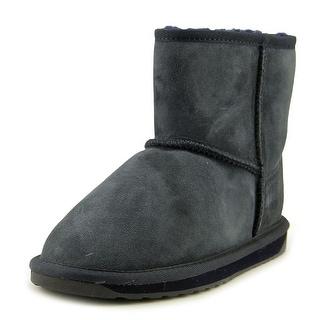 Emu Australia Stinger Mini Women  Round Toe Suede Blue Winter Boot