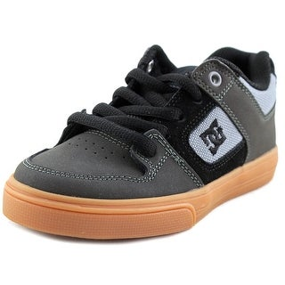 DC Shoes Pure J   Round Toe Leather  Skate Shoe