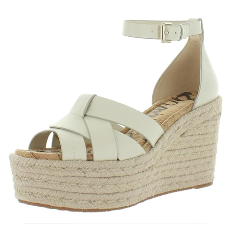 Sam Edelman Womens Marietta Espadrilles Leather Wedge - Ivory