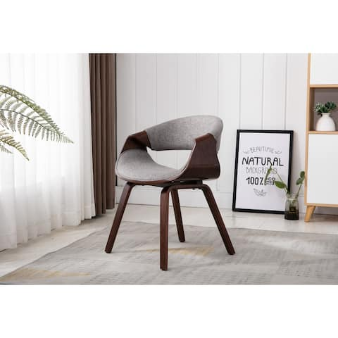 Home Beyond Grey Upholstered Leisure Chair