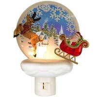 Santa and Reindeer Night Light