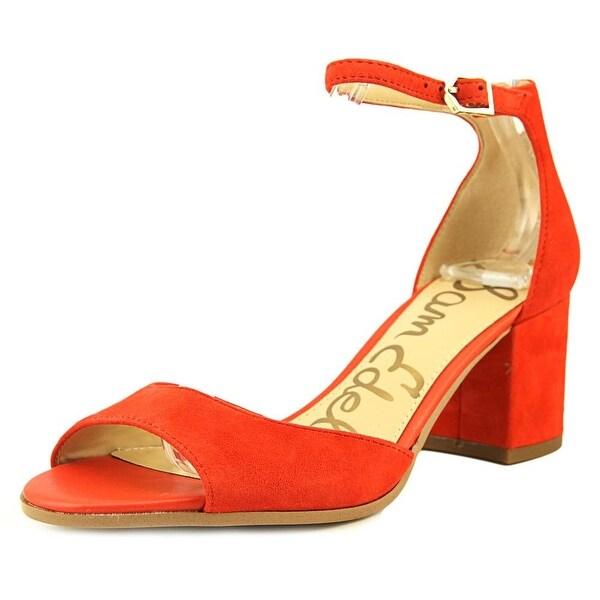 b52a76a7a164f6 Shop Sam Edelman Susie Women Open Toe Suede Orange Sandals - Free ...