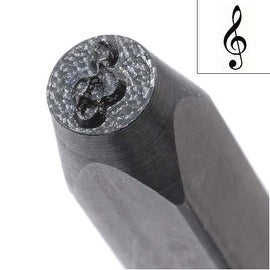 Music Treble Clef Punch For Stamping Metal 1/5 Inch Inch 5mm (1)