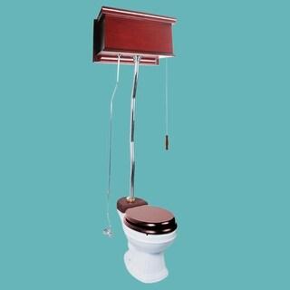 Cherry High Tank Z-Pipe Toilet Round White Bowl