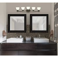 "Westinghouse 6303600 Elvaston 39"" Wide 5 Light Bathroom Vanity Light with Frosted Glass Shades"