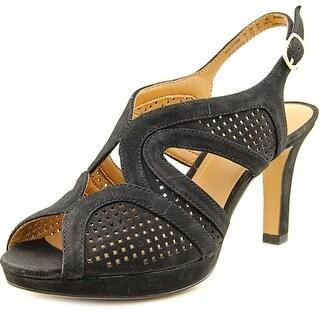 Clarks Delsie Grace Open-Toe Leather Slingback Sandal