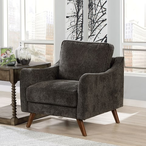 Furniture of America Pelteker Mid-Century Modern Chenille Chair