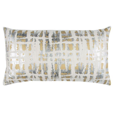 "Donny Osmond by Rizzy Home Gold Abstract Decorative Pillow 14"" x 26"""