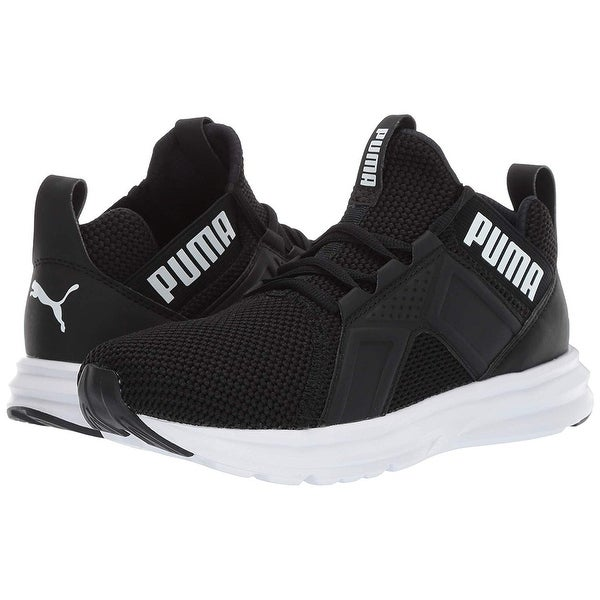 Shop Puma Women's Enzo Weave Sneaker, Black White, 10 M Us