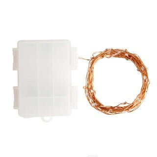 Hometown Evolution Inc 16FT 16.5 Foot Battery Powered (50) LED Diode Indoor/Outdoor Fairy Lights