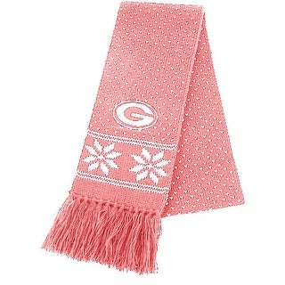 Link to NFL Green Bay Packers Pink Snowflake Knit Scarf Similar Items in Scarves & Wraps