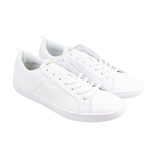 HUF Boyd Mens White Leather Lace Up Sneakers Shoes