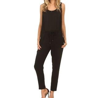 Trina Turk NEW Black Women's Size 0 Drawstring Zipped Jumpsuit