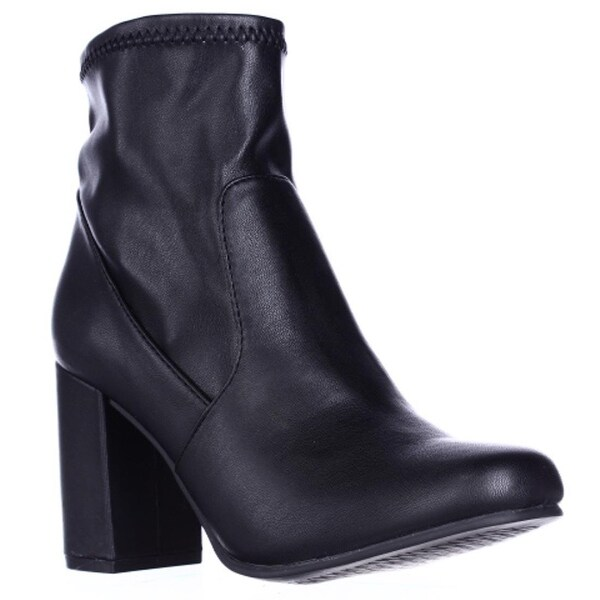 Seven Dials Teresa Block Heel Stretch Booties, Black