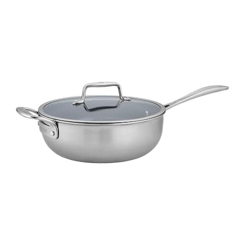 ZWILLING Clad CFX 4.5-qt Stainless Steel Ceramic Nonstick Perfect Pan - Stainless Steel