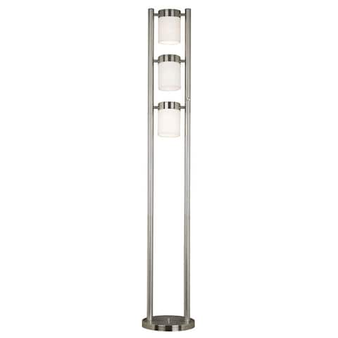 "Stelck 66"" 3-Light Floor Lamp - Brushed Steel"