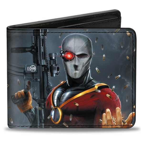 Secret Six Issue #15 Deadshot Cover Pose Bullets Scattered Bi Fold Wallet - One Size Fits most