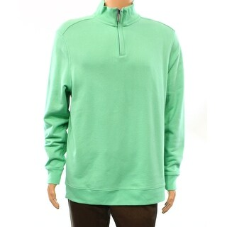 Club Room NEW Mint Green Mens Size Large L 1/2 Zip Mock Neck Sweater