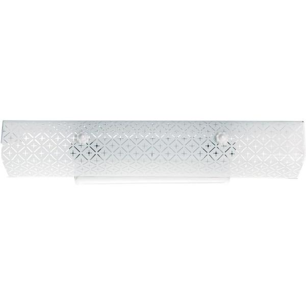 "Nuvo Lighting 76/277 Four Light 24"" Bathroom Fixture with Diamond ""U"" Channel Glass - White"