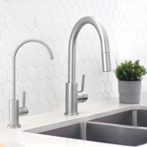 Kitchen Sink Drinking Water Faucet, Commercial Water Filtration Faucet, Stainless Steel, Contemporary Style High-Spout