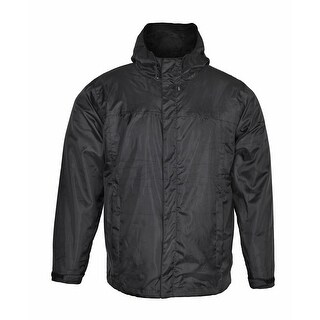 Men's Rain Jacket Waterproof with Hood RJ2 - Black