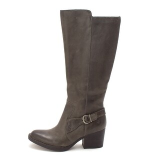 Born Womens Hillman Leather Closed Toe Mid-Calf Fashion Boots - 6.5