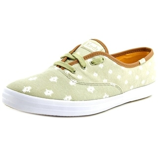 Keds CH Native Dot Women Round Toe Canvas Green Sneakers