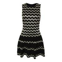 Betsy & Adam Women's Metallic Striped Dress