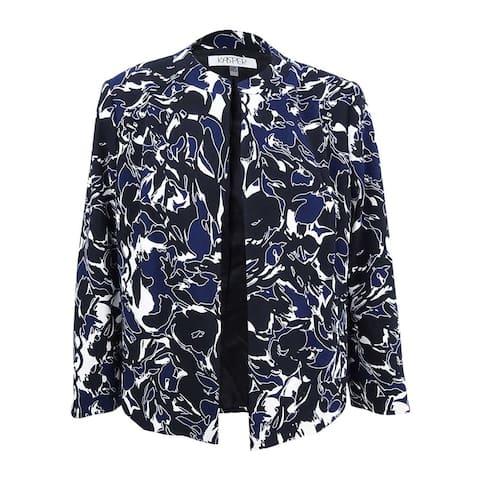 Kasper Women's Petite Printed Blazer - Indigo Multi