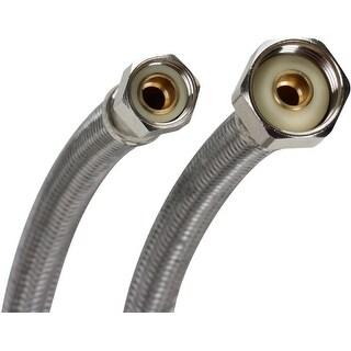 """Fluidmaster PRO1F16  16"""" Faucet Connection Hose, 3/8"""" Compression x 1/2"""" F.I.P."""