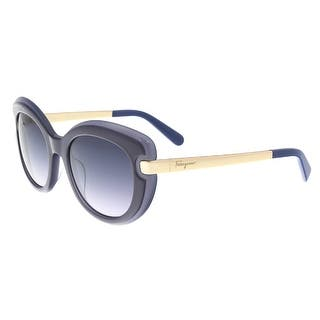 Salvatore Ferragamo SF813/S 449 Dark Blue Grey Cat Eye Sunglasses - 52-20-135|https://ak1.ostkcdn.com/images/products/is/images/direct/f3caf70366f6bd2890cf37b2e1b089cf251d47f3/Salvatore-Ferragamo-SF813-S-449-Dark-Blue-Grey-Cat-Eye-Sunglasses.jpg?impolicy=medium