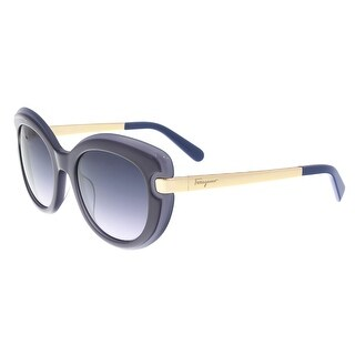 Salvatore Ferragamo SF813/S 449 Dark Blue Grey Cat Eye Sunglasses - 52-20-135